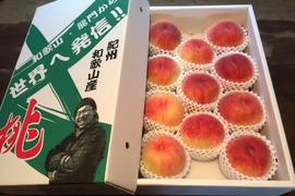 無農薬栽培の「美味しい桃」 / 和歌山県産 / 大箱 (約11〜13個 / 約4kg)