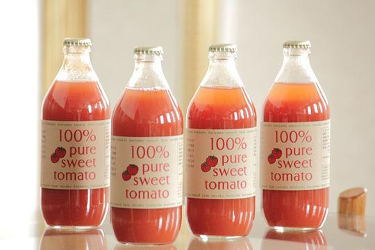 【無添加】北海道産100%トマトジュース (500ml×4本)